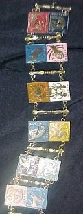 zodiac horoscope jewelry bracelet old vintage